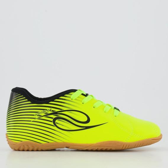 Chuteira Dalponte Wembley Futsal Juvenil Amarela E Preta