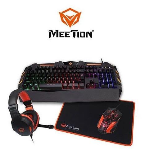 Combo Teclado Mouse Audifono Mousepad Meetion Gamer C500