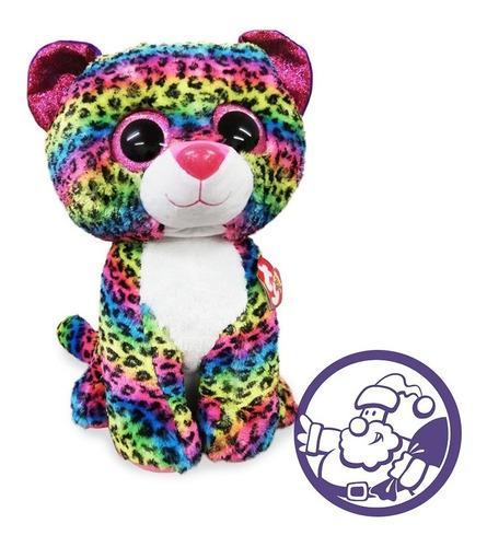 Imagen 1 de 4 de Peluche Leopardo Dotty  Grande Ty Beanies Boos 40 Cm