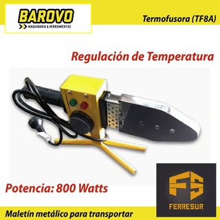 Termofusora 800 W Barovo Tf8a + Pinza Udovo Combo