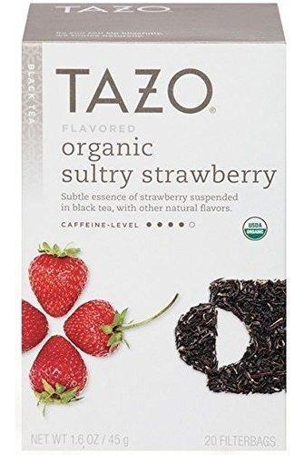 Tazo Orgánica Sensual Fresa Té Negro - 20 Bolsas Por Caja -