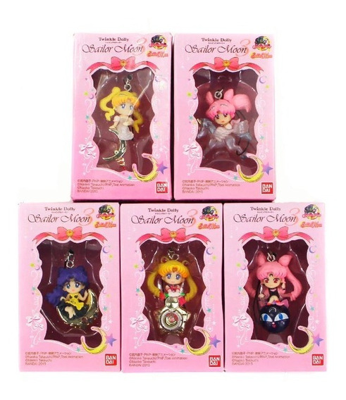 5 Llaveros Sailor Moon 4-6 Cm Con Caja Incluida Envio Gratis