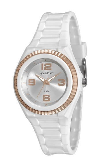 Relógio Speedo Feminino Pequeno Branco 80609l0evnp2