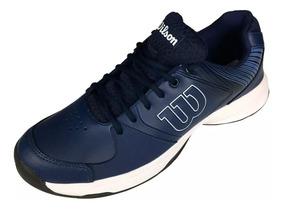 Tênis Wilson Advantage Tennis Saibro Grama Dura Preto/azul