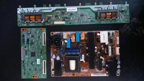 Kit Placa Fonte + T-com + Inverter Samsung Ln32c530f1mxzd Semi-novas