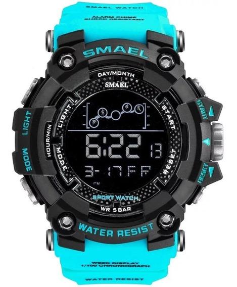 Relógio Smael 1802 Tático Digital Caixa Grande Prova D