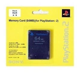 Memory Card Para Playstation 2 Ps2 64 Mb Sony Original Gk