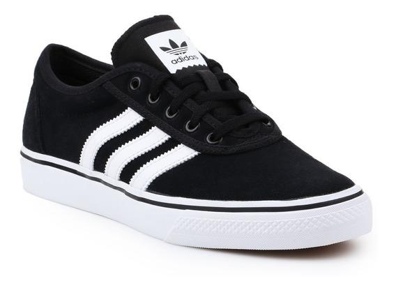 Tenis adidas Adi Ease Preto Com Branco Skate 100% Original