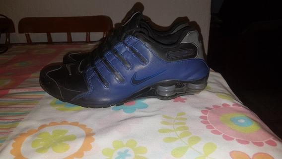 Tênis Nike Shox Nz Si Original Azul E Preto Número 42 Usado