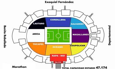 Extraordinario Asiento Estadio Monumental Colo-colo Oceano