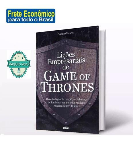 Imagem 1 de 6 de Livro  Lições Empresariais De Game Of Thrones Frete R$ 12,00