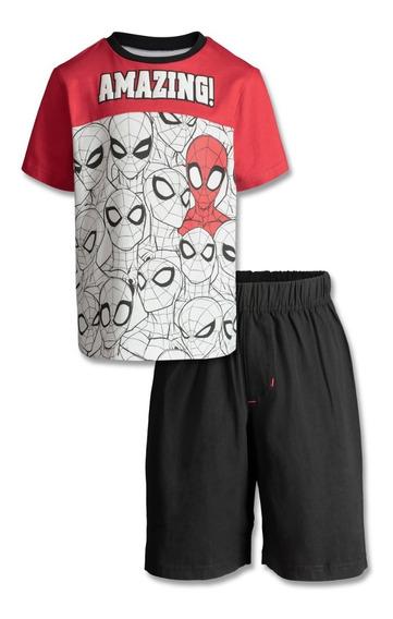 Conjunto Spiderman Varón Original Marvel, Importado De Usa