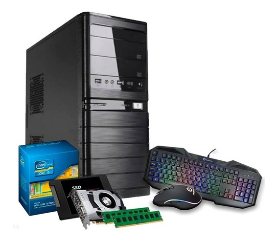 Pc I5 3470, Gf 4gb 1050 Gtx Ti, 16gb, Ssd 240gb, Kit Gamer