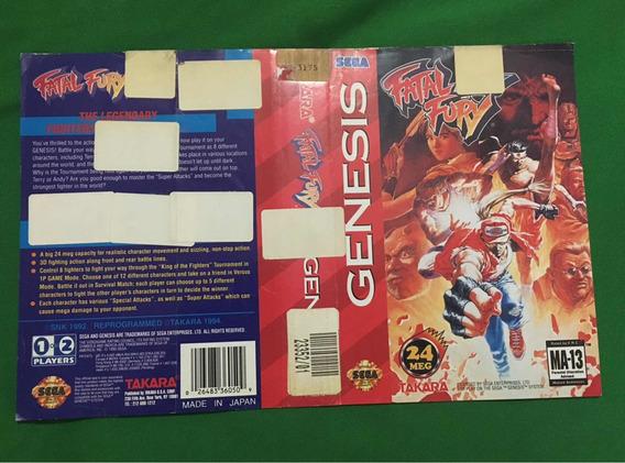 - Encartes Mega Drive Fatal Fury Genesis Originais
