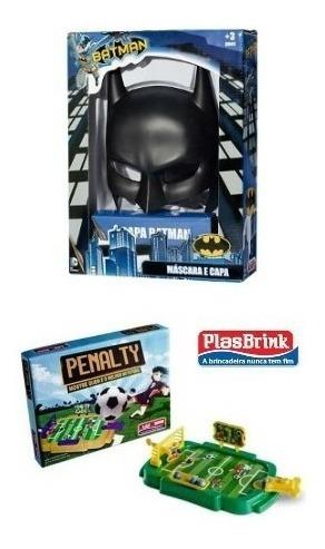 Kit Brinquedo Penalty Plasbrink + Máscara E Capa Batman