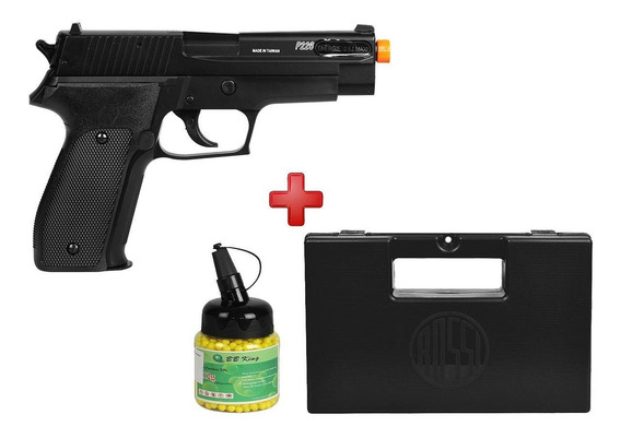 Pistola Airsoft Spring Sig Sauer P226 Slide Metal+ Case+ Bbs