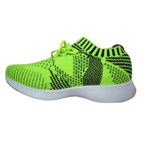 Zapato Tenis Casual Tejido Niño Infantil Verde/gris Kappa