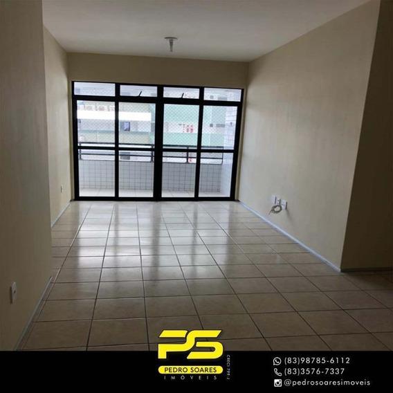 Apartamento Com 3 Dormitórios Para Alugar, 80 M² Por R$ 1.700/mês - Tambaú - João Pessoa/pb - Ap3240