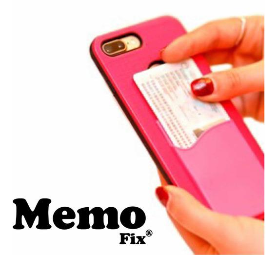 Porta Tarjetas Para Celular Con Adhesivo Removible Memofix