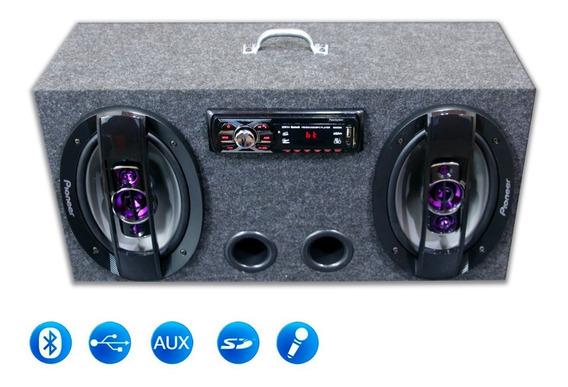 Caixa Amplificada Bluetooth Ativa 69 Pioneer + Taramps Tl500