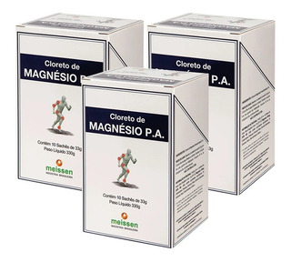3x Cloreto De Magnésio Pa Caixa C/ 10 Sachê De 33g - Meissen