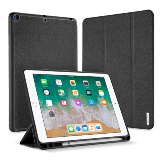 Capa Smart Com Suporte Para Caneta iPad 9.7 2017 2018+ Vidro