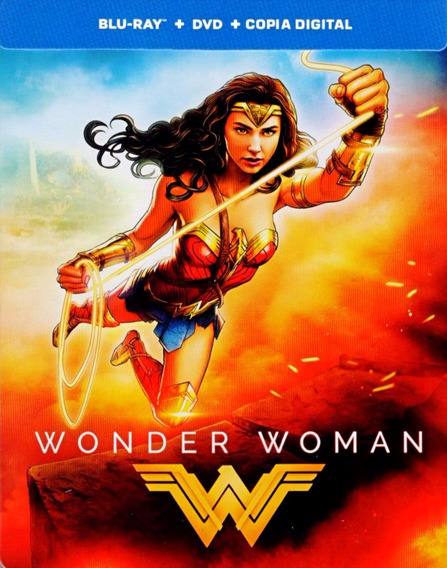 Mujer Maravilla Wonder Woman Blu-ray + Dvd + Hd Steelbook