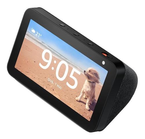 Imagem 1 de 9 de Smart Speaker Amazon Alexa Echo Show 5 Com Tela 5.5'' Preto
