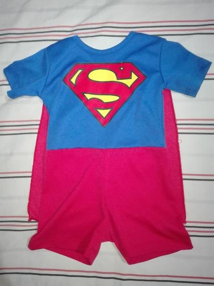 Disfraz Superman Niño Nene Dos O Tres Años Superheroe Liga J