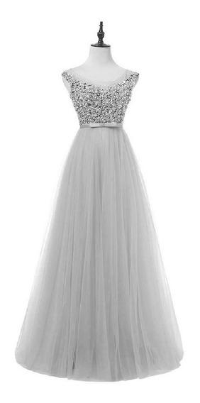 Vestido Longo Pedras Festa Princesa Luxo Madrinha Casamento