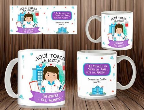Imagen 1 de 3 de Tazas Personalizadas, Día De La Enfermera, Regalos