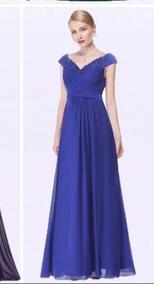 Vestido De Fiesta. Color Azul Rey