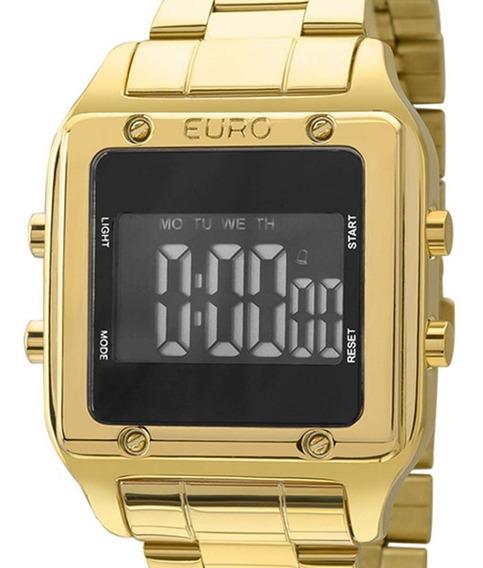 Relógio Euro Feminino Dourado Digital Eug2510aa/4p Quadrado