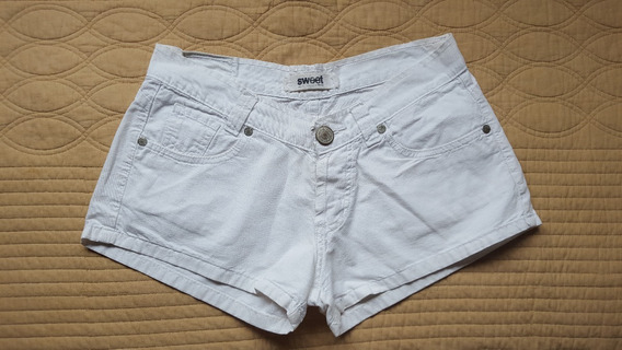 Short Sweet Blanco Tipo Jean - Divino!!