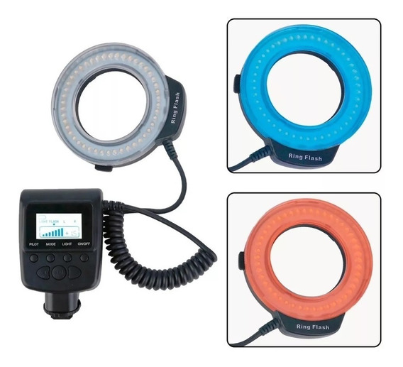 Flash Circular Macro De Led Ring Hd-130 Para Canon Nikon