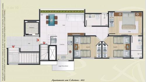 Imagem 1 de 3 de Cobertura Duplex À Venda, 3 Quartos, 1 Suíte, 2 Vagas, Itapoã - Belo Horizonte/mg - 2024