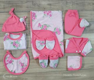 Ajuar Nacimiento Bebe 10 Piezas Nena Regalo Baby Shower