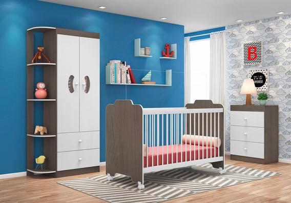 Dormitório Infantil Ternura Malbec Branco
