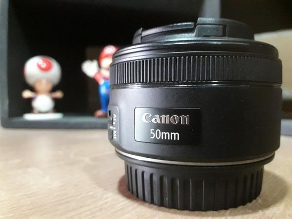 Lente Canon 50mm 1,8 Stm - (usada)
