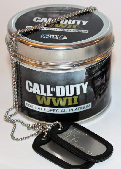 Medalla Militar Fortnite Dogtags Gamer Usa + Regalo Lata