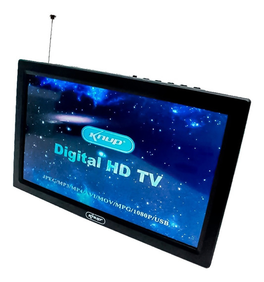 Tv Digital Portátil 9 Polegadas Hd Knup Kp-md005 Usb Hdmi