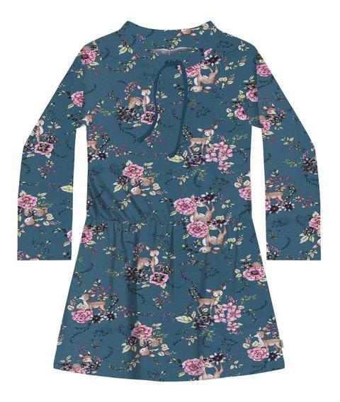 Vestido Manga Longa Molecotton Bem Grosso Infantil Nº 6