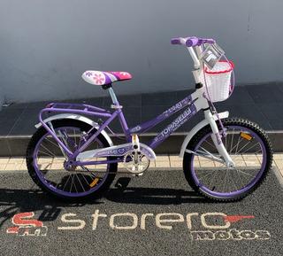 Bicicleta Tomaselli Lady Para Niños Rodado 20 Con Accesorios