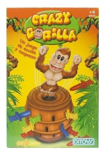 Imagen 1 de 5 de Juego de mesa Crazy Gorilla Ditoys