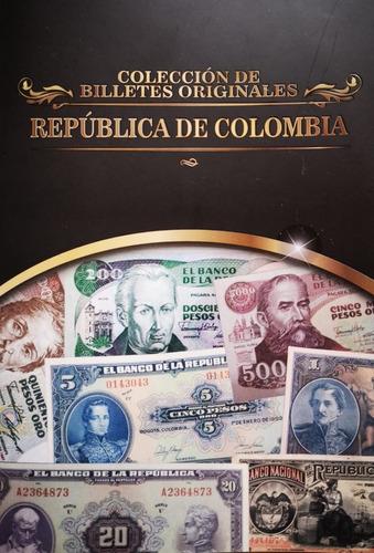 Colección Billetes Antiguos De Colombia, Carpeta De Lujo