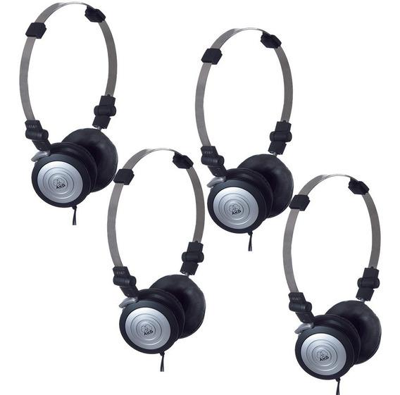 Kit Com 4 Headphones Akg K414p Mini Profissional Originais