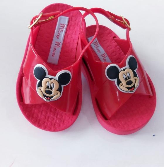 Sapatinho Sandalia Mickey Infantil Feminina Aberta Original
