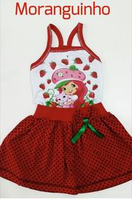 Vestido Princesas Infantil Divertido Moranguinho Minie Peppa