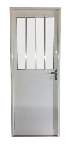 Imagen 1 de 1 de Puerta Aluminio Serie 30 Blanco 0.80x2.05 Mt