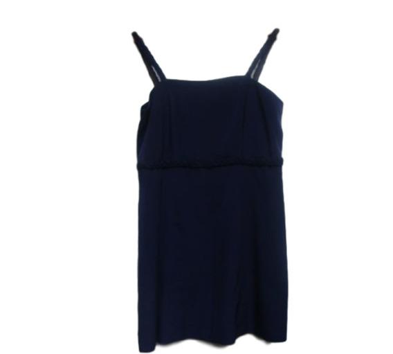 Vestido De Fiesta - Azul Con Bordado